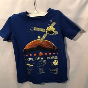 "Lands'End Boys size 5/6 ""space"" navy tee"
